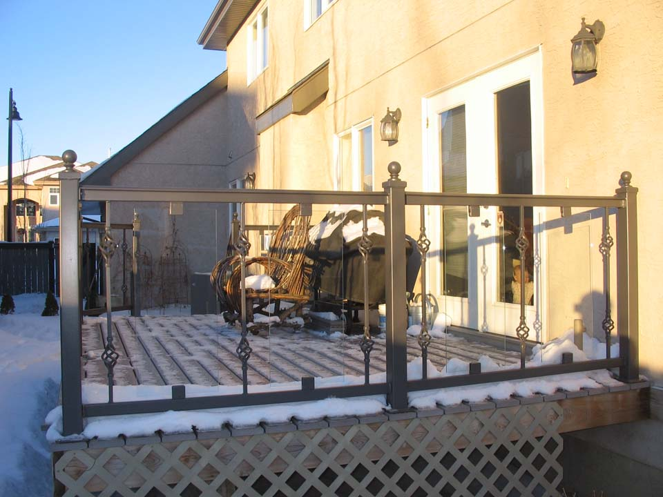 Mcgrath Forged Steel And Glass Patio Railings Hammer And