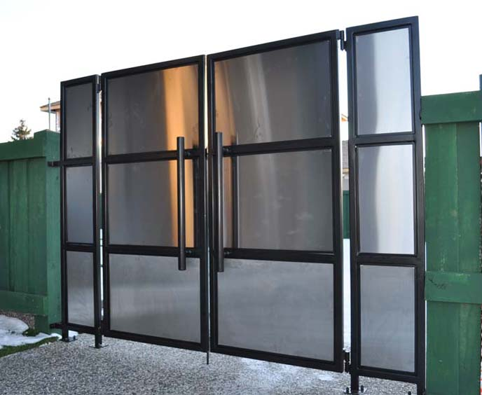 Lessard Modern Stainless Steel Gates Hammer And Forge