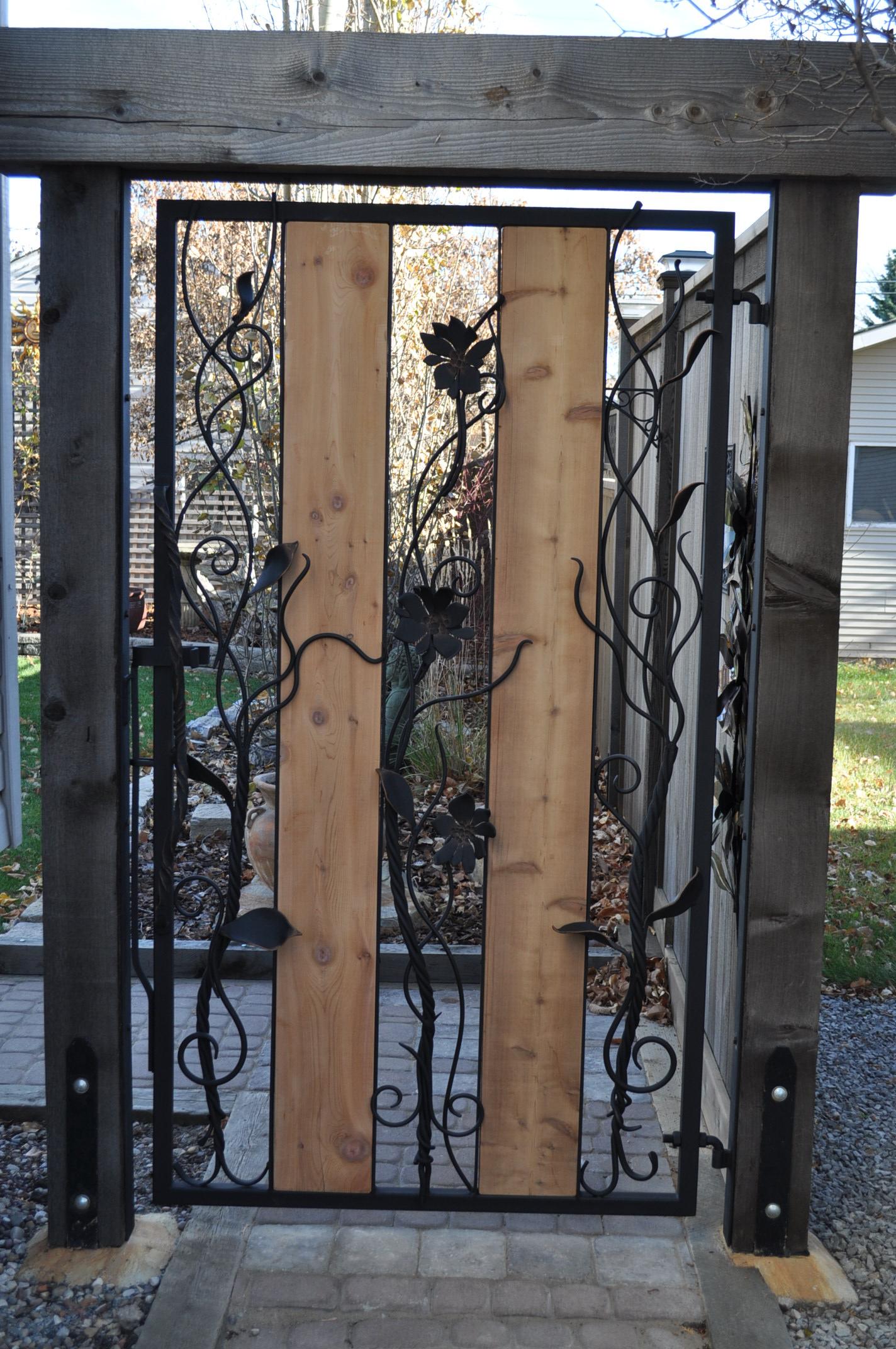 Wrought Iron Gate Hand Forged Gate Iron Gate Iron Art