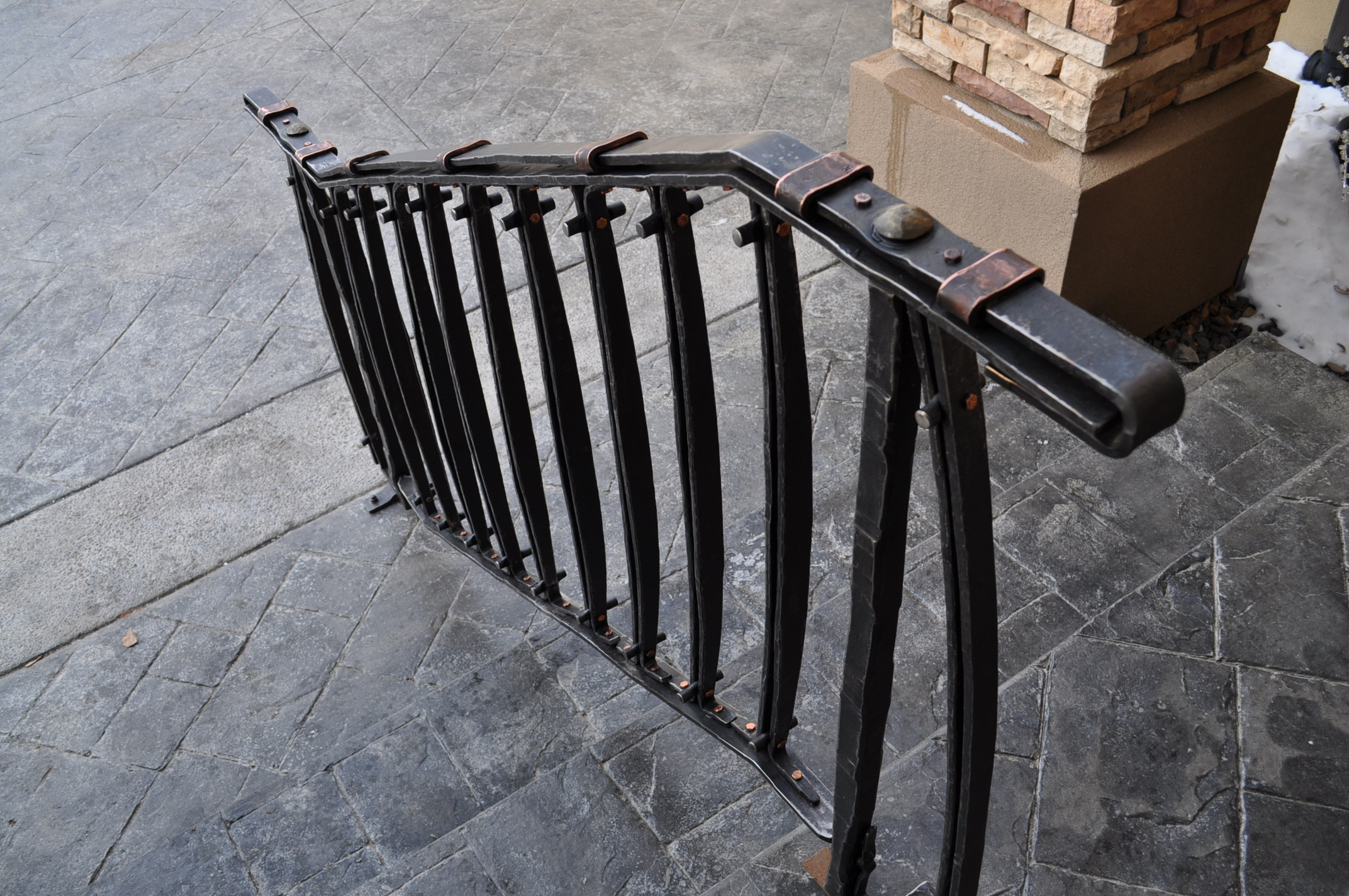 Hand Forged Railing Custom Handrail Wrought Iron Railing
